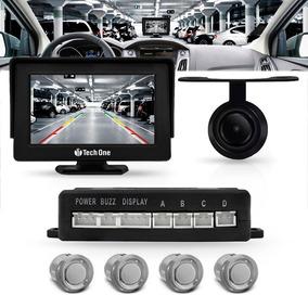 Sensor Estacionamento Com Tela Monitor E Camera Ré Cor Prata