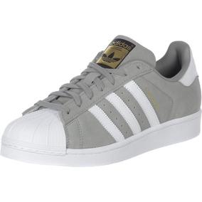 Zapatillas adidas Superstar Original Dama Bco Plata Y Gris !