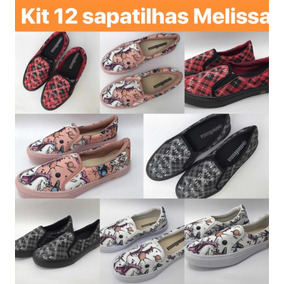Xadrez Unicórnio Melissa Sapatilha Kit C12 P Revenda Feminin
