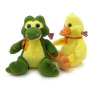 Peluches Cocodrilo Y Pato 44 Cm. Original Phi Phi Toys