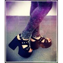 Sandalias Zapatos Taco Plataforma Moda Verano 2017