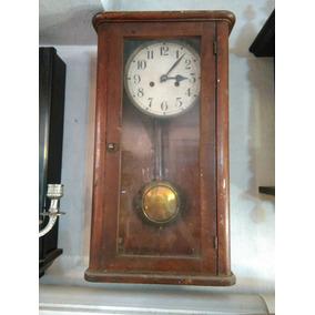 Reloj A Péndulo Antiguo De Pared, Doble Cuerda, Campanadas