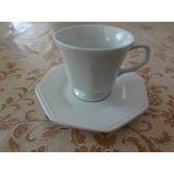 Conjunto 6 Xícaras Chá Com Pires Clara Porcelana Schmidt