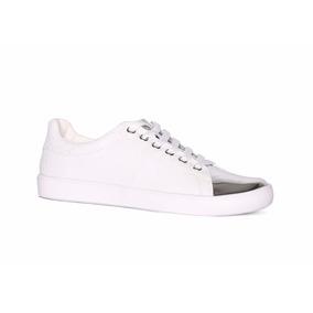 Trender Tenis Color Blanco, Con Detalles En Plata Espejo