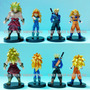 Set 4 Figuras Dragon Ball Z No Articulada Goku Vegeta Broly