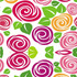 nº 010 Espiral Folhas Verdes Floral