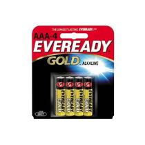 5 Paquetes C/4 Pila Eveready Alcalina Gold Aaa 1.5v A92aaa-4