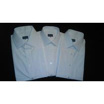 Camisa Blanca De Vestir Manga Corta