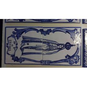 Virgen Fatima - Azulejo - 30 Cms X 15