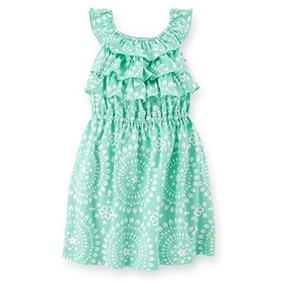 Vestido Verde Menta Con Patrones Carters