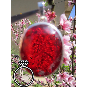 Topacio Rojo Buganbilia Gigante Dije Joya Plata Rubi Ruby