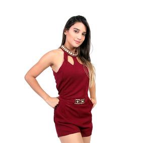 Macaquinha Feminina Com Cinto 12&g - Asya Fashion