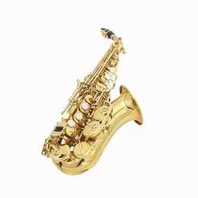 Sax Sopranino Soprano Curvo Bb Mega Oferta
