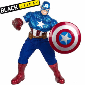 Boneco Gigante 55cm Capitão América Os Vingadores Marvel +nf