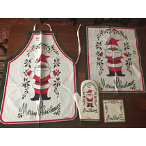 Delantal Cocina Navidad Con Agarradera,repasador Y Manopla