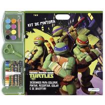 Kit De Pintura Tartarugas Ninja Bloco De Atividades 20 Peças