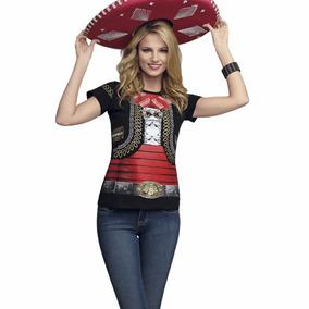 Playera Mujer Hombre Mexico Fiestas Patrias Mariachi Disfraz