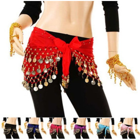 Falda India Pareo Danza Baile Monedas Zum Ejercicio