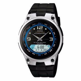 Relógio Masculino Casio Analógico/digital Esportivo Aw-82-1a