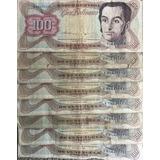 Lote De 39 Billetes De Cien Bolívares Años 1992 Y 1998