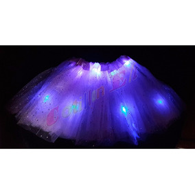Tutu Luminoso Led - Pollerita Disfraz Hada Luminosos