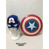 Capitan America Escudo Plastico Duro Y Mascara Envio Gratis