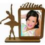 30 Enfeite Bailarina Porta Retrato Mdf Nome Festa 15 Anos