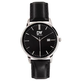Lindo Relógio Masculino Com Fundo Preto E Pulseira De Couro