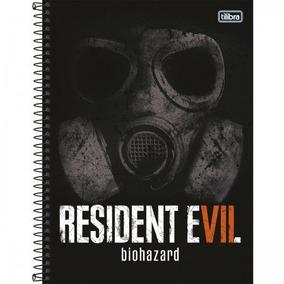 Caderno Esp Capa Dura Univ 1x1 Resident Evil Tilibra
