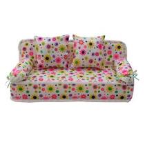 Refaxi Preciosa Miniatura Muebles Estampado De Flores Sofá