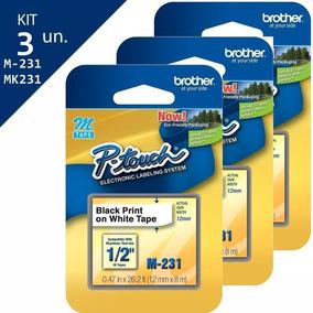 abfd84d28 Fita Brother M K231 Branca - Suprimentos de Impressão no Mercado ...