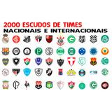 Times Clubes De Futebol - 2000 Vetores-logos-escudos-brasões