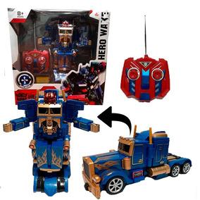 Transformer Optimus Prime A Radio Control Luz Y Sonidos