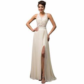 Vestido Novia Fiesta Talla 6 8 10 12 Gala Gk 17