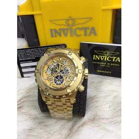 Relógio Invicta Cosc 12909 Skeleton M8 Dourado Prova Dagua