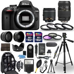 Nikon D3400 + 18-55 Mm + 70-300 Mm + Paquete De 30 Piezas
