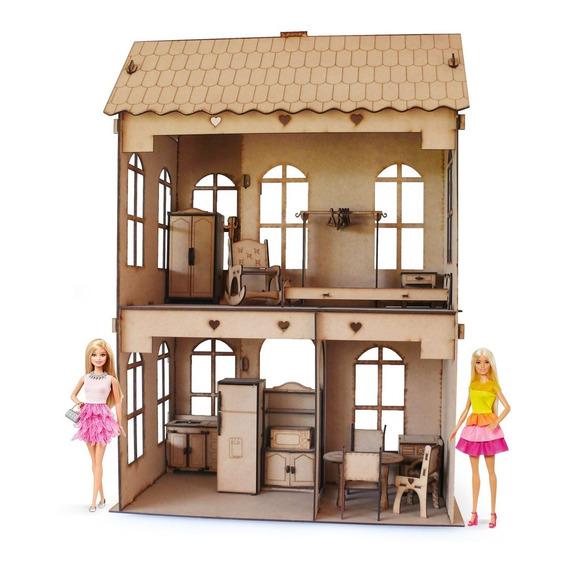 Casita De Mu?ecas + 21 Muebles Casa M3 - Envio Gratis !!