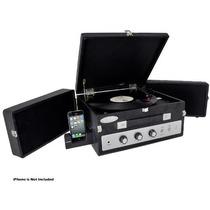 Tocadisco Sist Con Altavoces Para Iphone Reproductor Vinilo