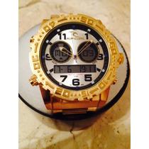 Relogio Metal Dourado Atlantis A3228 Ripcurl