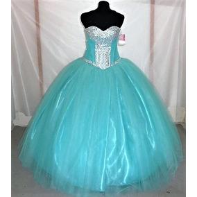 Vestido De Quince Xv Años Nuevo Aqua Promoción Solo Este Mes