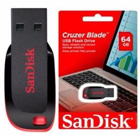 Pen Drive Sandisk Usb 64gb Cruzer Blade - Lacrado
