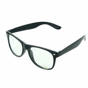 Armação Óculos De Grau Wayfarer Preto Grande Geek Retrô