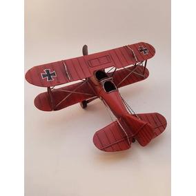 Avion Antiguo Decorativo En Metal (miniatura)
