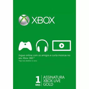 Xbox Live Gold 1 Mês Brasil Código 25 Dígitos Xbox 360/ One