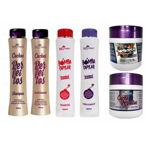 Kit Shampoo Condicionador Máscara Bomba E Cachos Bell Corpus