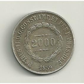 Réplica Moeda Monarquia Tempo Império 1859 2000 Réis