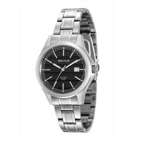 Relógio Feminino Prateado Seculus Analógico 20433g0svna1