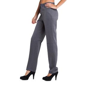 Pantalón Clásico Recto De Mujer - Tela Zara | Chima