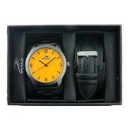 Reloj Stone Doble Malla Metal,cuero Estuche Original 1047go