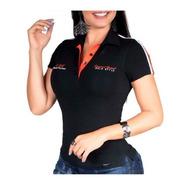 Polo Feminina Pit Bull Jeans 36664 Com Oferta Incrivel Linda